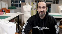 The Sewing Contestants on The Great British Sewing Bee: What an interesting chap Mark is. An HGV driver by day and a lover, wearer and creater of historically authentic clothing in his spare time! And oh my, that dress he created in episode one - what a corker!