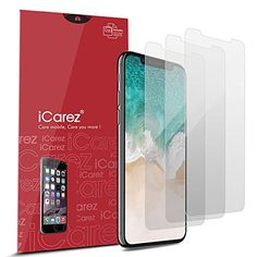 http://electronics.fatekey.com/icarez-hd-anti-glare-screen-protector-for-iphone-x-3-pack-matte-highest-quality-no-bubble-easy-install-with-lifetime-replacement-warranty-retail-packaging/    Price: (as of Jan 01,1970 00:00:00  – Details)  1. Features & Advantages.   — Premium Japanese PET Material. High Definition Matte material, different from ordinary matte film with obvious pixel, enjoy your visual feast.   — Anti-Glare  To be legible even under the.