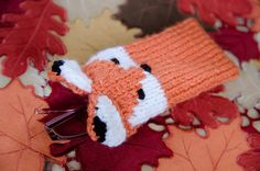 Knit phone case or glasses Fox