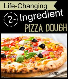 My FAVORITE food hack to date: did you know you can make a soft, yummy pizza crust in 5 minutes using flour and Greek yogurt?!