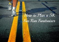 Need to raise money? How about a 5K fundraiser! How to plan a 5K fundraiser...