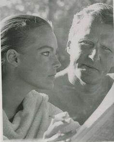 Romy Schneider and Harry Meyen, St. Jean Cap Ferrat, September 1967