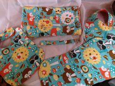 Woodland Animals on Orange Baby Gift Set