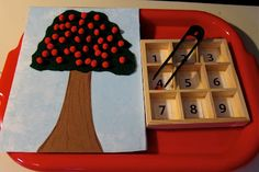 Apple Tree counting game. Change this to a bog and turn it into a Cranberry Counting game