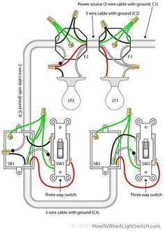 wiring diagram for multiple lights on one switch power coming in rh pinterest com how to wire multiple lights to one switch diagram uk 3-Way Switch Light Wiring Diagram