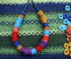 "Necklace of Crocheted ""beads""."