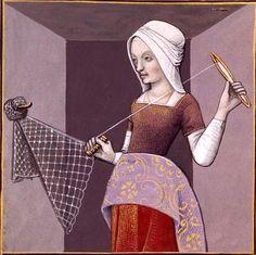 XVIII-Arachné de Colophon tissant un filet (ARACHNE of Colophon) -- Giovanni Boccaccio (1313-1375), Le Livre des cleres et nobles femmes, v. 1488-1496, Cognac (France), traducteur anonyme. -- Illustrations painted by Robinet Testard -- BnF Français 599 fol.17v -- See also at: http://www.photo.rmn.fr/cf/htm/CSearchZ.aspx?o=&Total=134&FP=24302134&E=2K1KTSJXQ2SN4&SID=2K1KTSJXQ2SN4&New=T&Pic=130&SubE=2C6NU055AL79