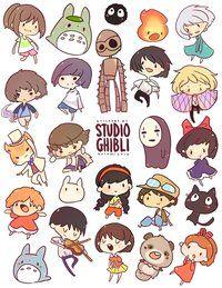 I love Studio Ghibli so much. And chibi Studio Ghibli? Studio Ghibli Films, Art Studio Ghibli, Studio Ghibli Characters, Hayao Miyazaki, Film Animation Japonais, Animation Film, M Anime, Anime Art, Chibi Anime