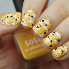 Nail Tip Designs, Nail Polish Designs, Simple Nail Designs, Cat Nail Art, Yellow Nails Design, Nail Stamping Plates, Flower Nail Art, Hot Nails, Nail Art Stickers