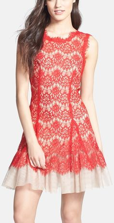 Coral fit & flare