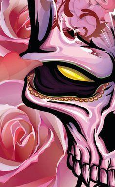 Undead Beauty by Gerrel Saunders, via Behance Japanese Tattoo Art, Airbrush Art, Dope Art, Skull Art, Graffiti Art, Body Painting, Painting Abstract, Art Sketches, Vector Art