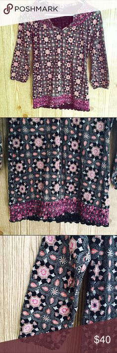 Lucky Brand Paisley Blouse! Size xs! Lucky Brand Tops Blouses