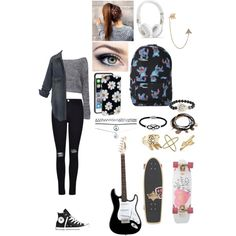 typical day at school by brianna4481 on Polyvore featuring polyvore, fashion, style, Boohoo, Frame Denim, Converse, Disney, Bee Goddess, Forever 21, Jewel Exclusive, Wet Seal, Bling Jewelry, Eva Fehren, Sonix, Electric Picks and Dusters