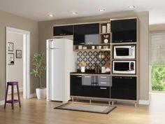Cozinha Compacta Multimóveis Linea Sicília - com Balcão Nicho para Forno ou Micro-ondas voce encontra no Magazine Allevato