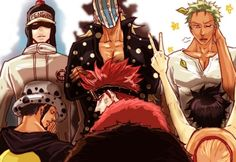 Trafalgar Law, Eustass Kid , Monkey D. Luffy , Roronoa Zoro , Penguin and Killer #elevensupernovas #one piece