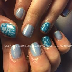 CND shellac gel polish mani nails & Konrad stamping nail art
