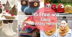 How to Knit - 45 Free and Easy Knitting Patterns These are quick knit & crochet projects. Marie