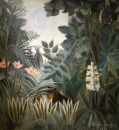 Henri Rousseau The Equatorial Jungle painting for sale - Henri Rousseau The Equatorial Jungle is handmade art reproduction; You can buy Henri Rousseau The Equatorial Jungle painting on canvas or frame. National Gallery Of Art, Art Gallery, National Art, Art Conceptual, Jungle Art, Post Impressionism, Blog Deco, Naive Art, Oeuvre D'art
