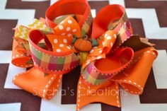 Pumpkin stacked bow