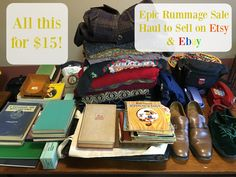 Epic $15 Church Rummage Sale Haul to Sell on Etsy & Ebay ! Aug 12th &…