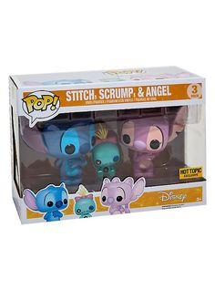 Funko Disney Lilo & Stitch Pop! Stitch, Scrump & Angel Vinyl Figure Set Hot Topic Exclusive,