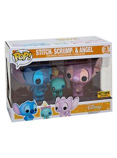 Funko Disney Lilo & Stitch Pop! Stitch, Scrump & Angel Vinyl Figure Set Hot Topic Exclusive,