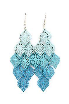 Watercolor Sky Chandelier Earrings   Emma Stine Jewelry Earrings