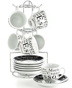 Gibson Drinkware, Espresso Expressions 13 Piece Set - Glassware - Dining & Entertaining - Macy's