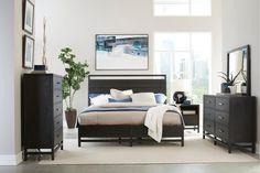 black modern bedroom furniture. Modern Black 4 Piece Queen Bedroom Set - Thomas Black Modern Bedroom Furniture