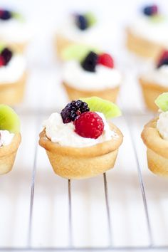 Mini Fruit Tarts - a