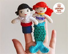 Hey, I found this really awesome Etsy listing at https://www.etsy.com/listing/288063867/finger-puppets-mermaid-ariel-and-eric