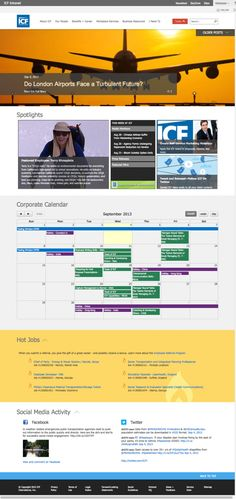 ICF International's Intranet – Digital Workplace Group Intranet Design, London Airports, Professional Services, Workplace, Competition, Office 365, Social Media, Tours, Technology
