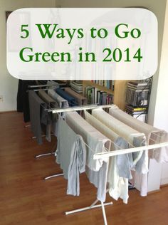5 Ways to Go Green in 2014 - Challenge yourself to take these small steps this year