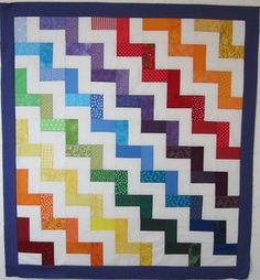 scrap quilt for charity. Tutorial on my blog.