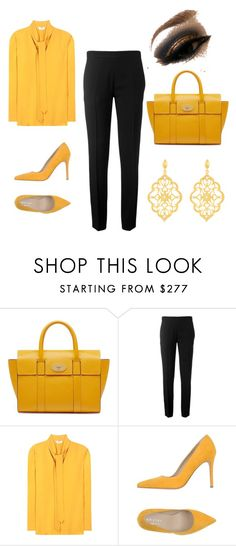 """Untitled #28"" by blackloveheart ❤ liked on Polyvore featuring Mulberry, Chloé, Edun, Orciani and Kabella Jewelry"