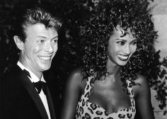 David Bowie's marriage to Iman.