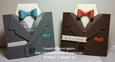 Stampin' By The Bay: Suit, Vest and Tie Card
