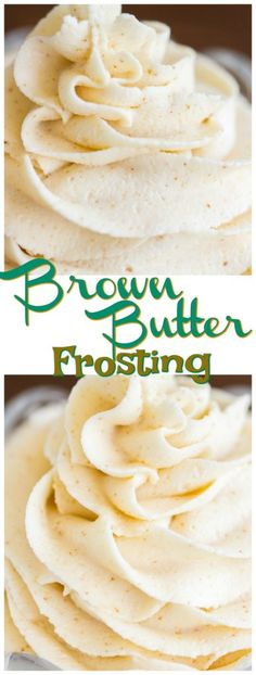 Brown Butter Frosting recipe - The Gold Lining Girl Brown Butter Frosting is magical! My basic buttercream recipe gets a major upgrade. Made with nutty, caramel-like, fragrant, toasty, rich brown butter. Basic Buttercream Recipe, Icing Recipe, Butter Recipe, Browned Butter Frosting Recipe, Wedding Frosting Recipe, Bakery Frosting Recipe, Homemade Frosting Recipes, Brown Butter Frosting, Icing Frosting
