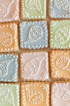 Paisley design icing cookies by TH Bakes | Chuzai Living