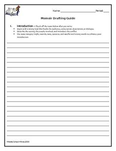 A drafting guide with checklists in each section (introduction, rising action, climax, falling action, and resolution) so that students can check their progress along the way. Small Moment Writing, Small Moments, Memoirs, Students, Action, In This Moment, Check, Group Action