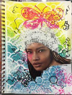 Carmen B. Norris: Art Challenge- 15 Days of 15 minute Mixed Media-3/...