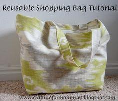 reusable shopping tote tutorial