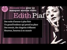 Edith Piaf - La vie en rose - Paroles ( lyrics )