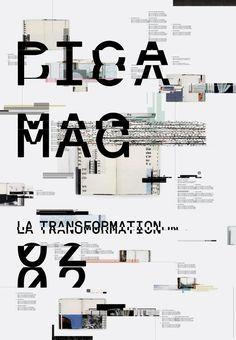 PICA MAGAZINE POSTER / JACKET on Behance