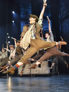 NEW NEWSIES PRODUCTION PHOTOS!! The touring cast of Disney's Newsies (Photo by…