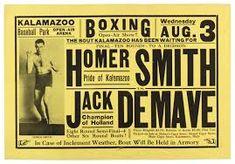 Resultado de imagem para vintage boxing poster