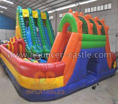 GF-82 Dragon obstacle funland SIZE(meter):  12mLx10mWx5.5mH SIZE(foot):  39ftLx33ftWx18ftH #dargonfunland #inflatable #obstaclefunland