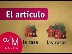 La Eduteca - El artículo - YouTube Spanish Grammar, Spanish 1, Teaching Spanish, Spanish Lesson Plans, Spanish Lessons, Definite And Indefinite Articles, Dual Language, Spanish Classroom, Hands On Activities