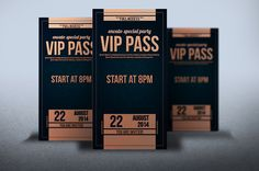 Elegant leather style VIP PASS card by Tzochko on Creative Market