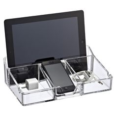 Our beautiful Acrylic Smart Organizer is the ultimate charging station. | $24.99